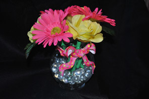 Glass Gerbera Daisy Rose