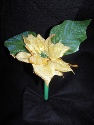 Gold Poinsettia Pen