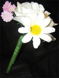 White Rose Mix Flower Pen